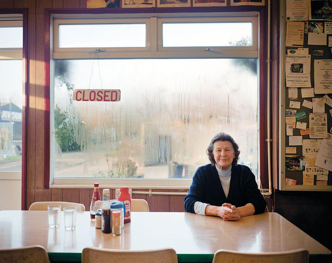 Jean in her café, Lower Lea Valley, Autumn, 2005