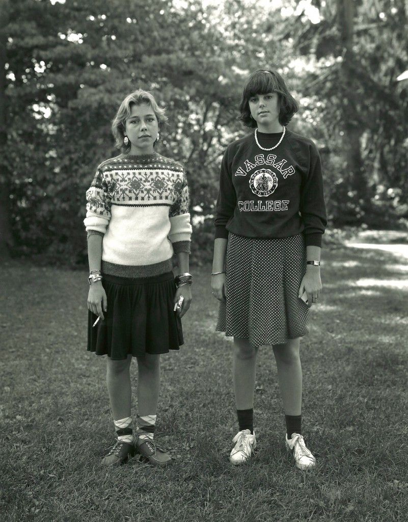 Two students in 'Eastern dress', Vassar College, 1982