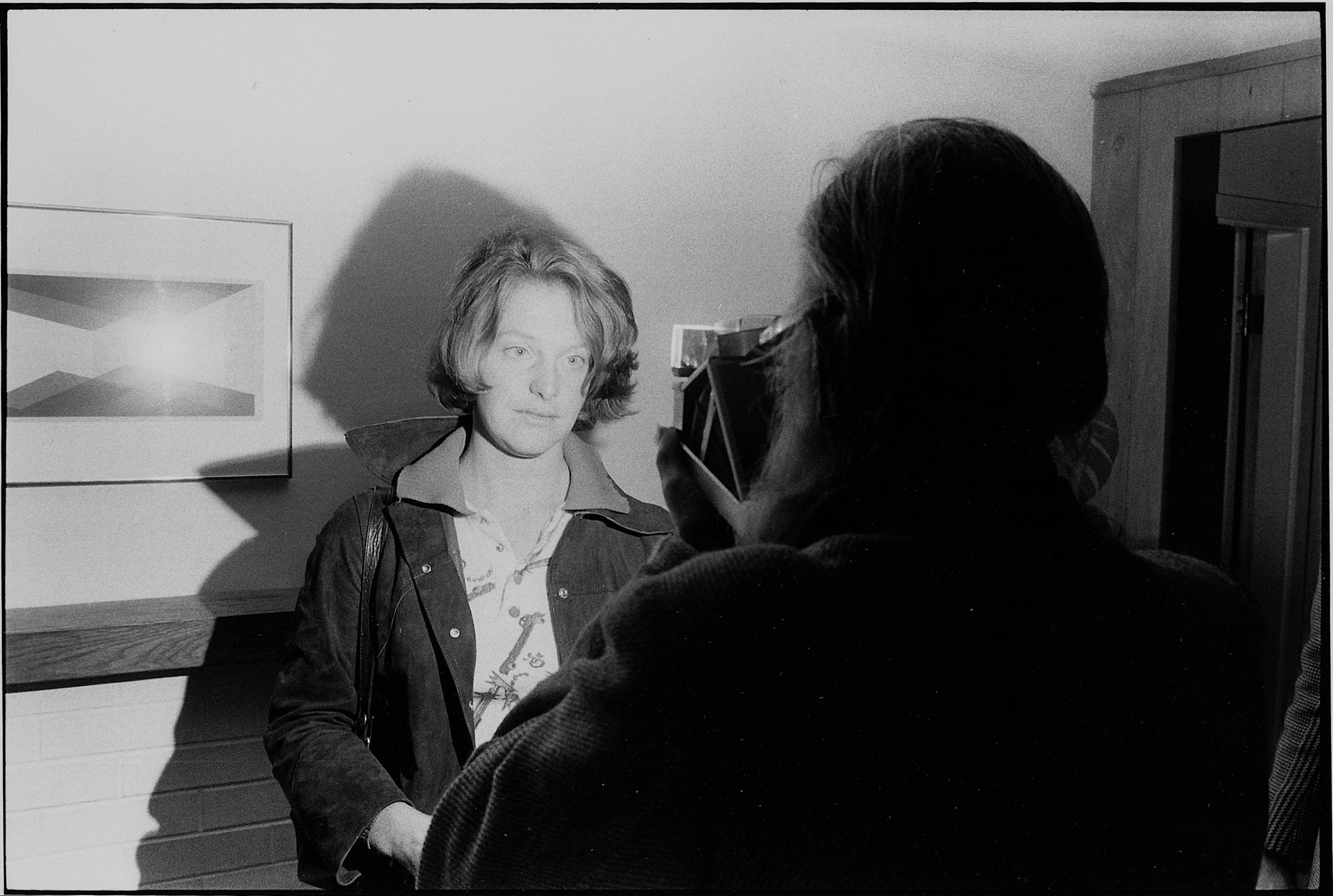 Walker Evans photographing Susan Thronton, Bethany, CT, 1973